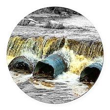 rushing river - hdr Round Car Magnet