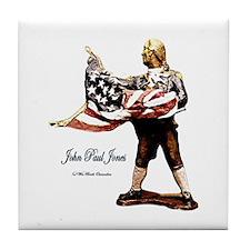 John Paul Jones Tile Coaster
