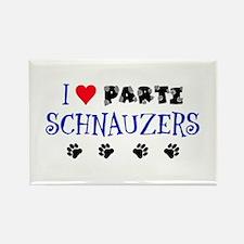 I Love Parti Schnauzers 1.0 Rectangle Magnet