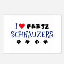 I Love Parti Schnauzers 1.0 Postcards (8pack)
