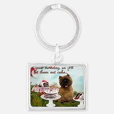 Cairn Terrier Happy Birthday Landscape Keychain