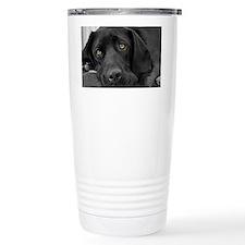 Beautiful Black Labrador Travel Mug