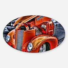 Orange Antique Ford Sticker (Oval)