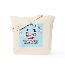 Horses Against Romney Button Tote Bag