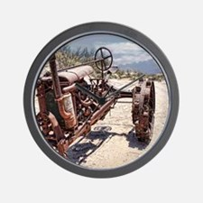 Antique Farm Tractor Wall Clock
