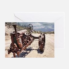 Antique Farm Tractor Greeting Card