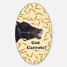 Cute Got Carrots? Horse Decal