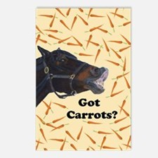 Cute Got Carrots? Horse Postcards (Package of 8)