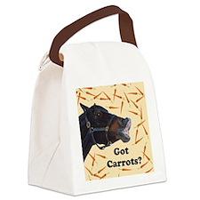 Cute Got Carrots? Horse Canvas Lunch Bag