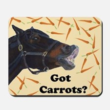 Cute Got Carrots? Horse Mousepad
