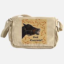 Cute Got Carrots? Horse Messenger Bag
