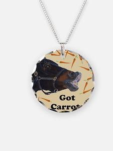 Cute Got Carrots? Horse Necklace