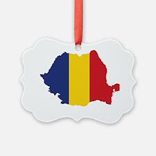 Flag Map of Romania Ornament