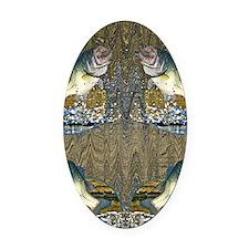 largemouth bass Oval Car Magnet