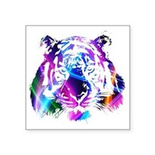 "Neon Tiger Square Sticker 3"" x 3"""