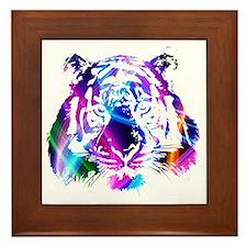Neon Tiger Framed Tile