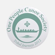 One People Canoe Society Tribal Jou Round Ornament