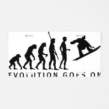 evolution snowboard Aluminum License Plate