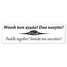 One People Canoe Society Motto Bumper Sticker