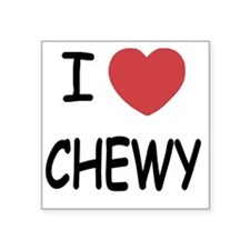 "I heart CHEWY Square Sticker 3"" x 3"""