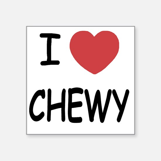 """I heart CHEWY Square Sticker 3"""" x 3"""""""