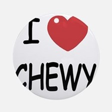 I heart CHEWY Round Ornament