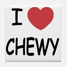 I heart CHEWY Tile Coaster