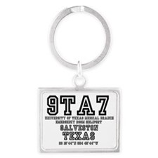 UNIVERSITY AIRPORT CODES - 9TA7 Landscape Keychain
