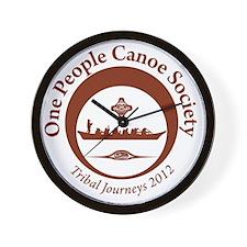 One People Canoe Society Tribal Journey Wall Clock
