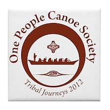 One People Canoe Society Tribal Journ Tile Coaster