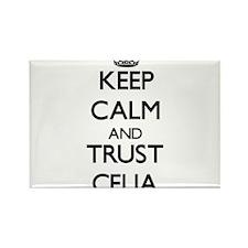 Keep Calm and trust Celia Magnets