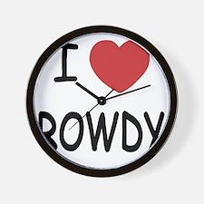 I heart ROWDY Wall Clock