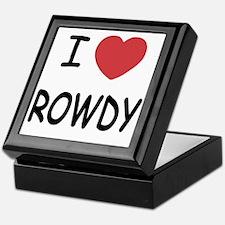 I heart ROWDY Keepsake Box