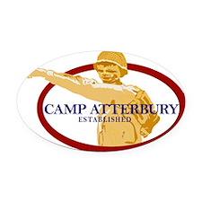 Camp Atterbury Oval Car Magnet