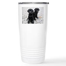Puppy black Labradors Travel Mug