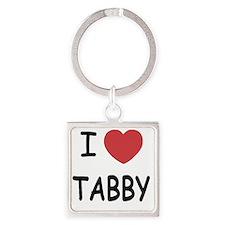 I heart TABBY Square Keychain