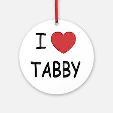 I heart TABBY Round Ornament