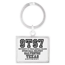 UNIVERSITY AIRPORT CODES - 9TS7 Landscape Keychain