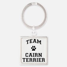 Team Cairn Terrier Square Keychain