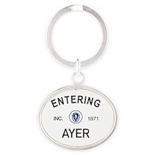 Ayer Oval Keychain