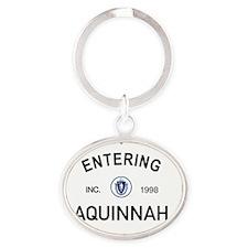 Aquinnah Oval Keychain