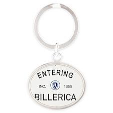 Billerica Oval Keychain