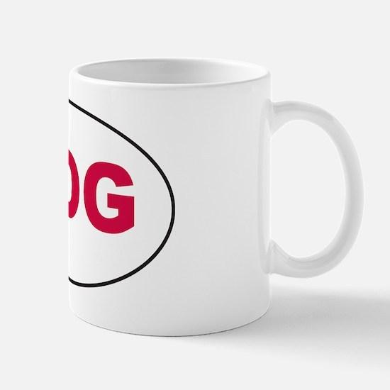 Red HOG Sticker Mug