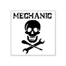 "Mechanic Pirate Square Sticker 3"" x 3"""