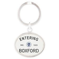 Boxford Oval Keychain
