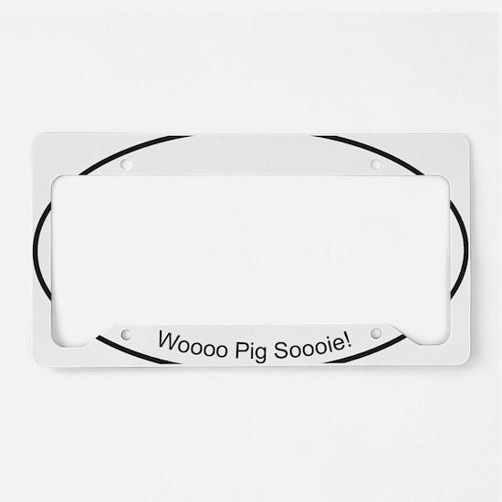 Black WPS Sticker License Plate Holder