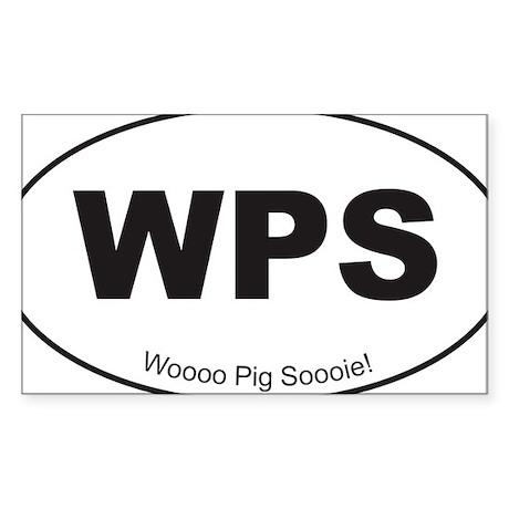 Black WPS Sticker Sticker (Rectangle)