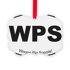 Black WPS Sticker Ornament