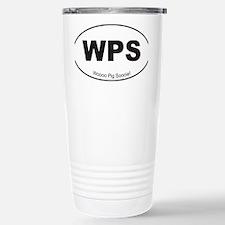 Black WPS Sticker Stainless Steel Travel Mug