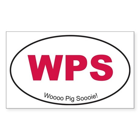 Red WPS Sticker Sticker (Rectangle)